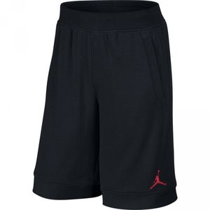 Basketball adulte JORDAN Short de Basket Jordan Fleece Noir Logo Rouge pour homme taille - XS