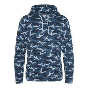 Mode- Lifestyle homme AWDIS Sweat-shirt à capuche camo homme - JH014 - bleu camouflage
