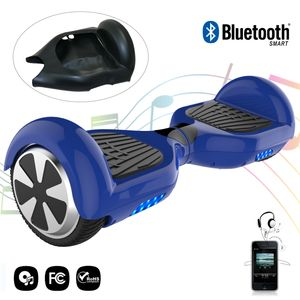 Glisse urbaine  COOL&FUN COOL&FUN hoverboard gyropode Bluetooth 6.5 Pouces blue + Housse en silicone protection pour hoverboard  Gyropode 6,5 pouces, noir