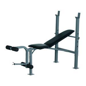 Musculation  HOMCOM Banc de musculation Fitness entrainement complet dossier réglable curler supports barre et haltères neuf 32