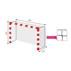 Handball adulte TREMBLAY CT Filet Handball - 4 mm Ms - La paire