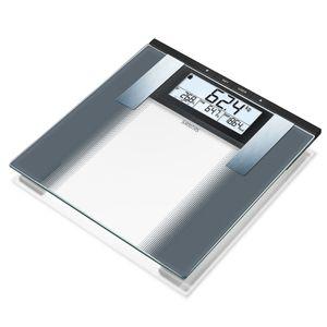 SANITAS Sanitas Pèse-personne impédancemètre SBG 21 180 kg Verre Noir et blanc