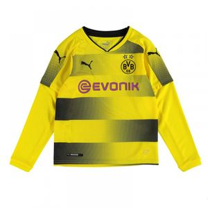 Football enfant PUMA 2017-2018 Borussia Dortmund Long Sleeve Domicile Puma Maillot (Kids)