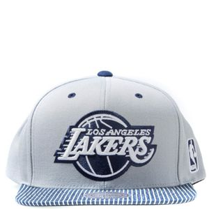 Mode- Lifestyle homme MITCHELL & NESS Lakers Homme Snapback Basketball Gris Mitchell & Ness