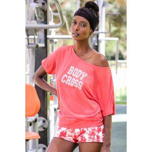 Fitness femme BODYCROSS T-shirt Lifestyle Ena Rouge