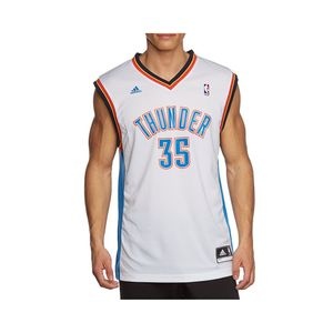 Mode- Lifestyle homme ADIDAS Maillot Replica K. Durant Oklahoma City Thunder Blanc Homme Basketball Adidas