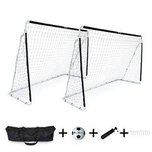 ALICE'S GARDEN 2 cages de football Eden taille L en acier 300 x 200 cm avec ballon, pompe, sacs de rangement, kits d'ancrage, but de foot