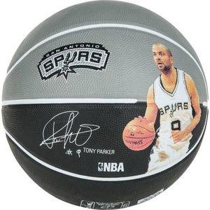 GENERIQUE BALLON DE BASKET-BALL  Ballon de basket-ball NBA Player Tony Parker - Gris et noir - Taille 7