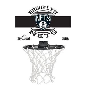 Basket ball  SPALDING Spalding Nba Brooklyn Nets Blanc Panier Intérieur Basketball