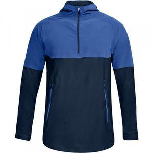 Mode- Lifestyle adulte UNDER ARMOUR Veste Zippé 1/4 Under armour Threadborne Vanish Popover Bleu Pour Homme taille - L