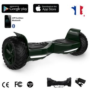 evercross challenger gt hoverboard hummer gyropode tout terrain 8 5 pouces vert avec bluetooth. Black Bedroom Furniture Sets. Home Design Ideas