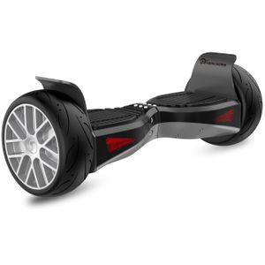 Glisse urbaine  EVERCROSS EVERCROSS Hoverboard Gyropode 8.5 pouces, Shadow jantes argentés avec Bluetooth et App de contrôle, moteur 2x400W
