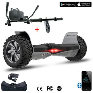 COOL&FUN Pack Evercross Hoverboard Hummer 8,5 pouces Noir + Hoverkart Noir, avec App et sac de transport