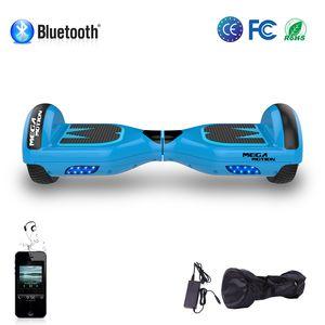 MEGA MOTION Hoverboard Mega Motion 6.5 pouces classique E1 bleu, Gyropode certifié avec bluetooth