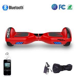 MEGA MOTION Hoverboard Mega Motion 6.5 pouces classique E1 rouge, Gyropode certifié avec bluetooth