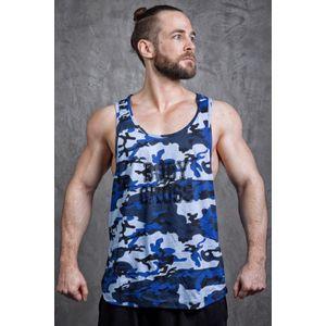 Musculation homme BODYCROSS D�bardeur Musculation Dean Camouflage Bleu