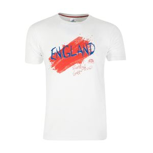 Football homme NATIONS OF FOOTBALL Tee-shirt Paint Angleterre Blanc-S