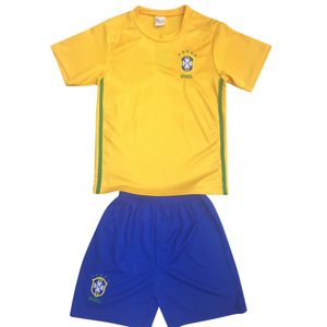 Football adulte FASHION Ensemble short et maillot de foot BRESIL Taille de 4 à 14 ans
