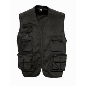 Pêche homme SOL S Gilet reporter photographe multipoches veste légère sans manches - 43630 - noir