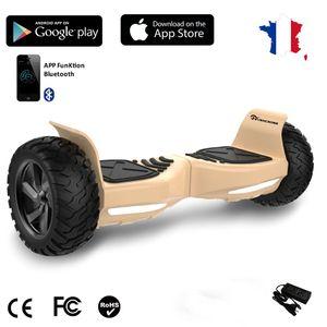 Glisse urbaine  EVERCROSS EVERCROSS Hoverboard Bluetooth 8.5 pouces,  Gyropode Overboard avec Application de Contrôle, SUV Hummer Tout Terrain, Or