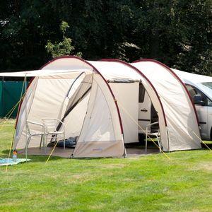 Camping  SKANDIKA Camper Tramp - Auvent minibus - 2 personnes - 370 x 320 cm - Beige/Bordeaux