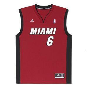 ADIDAS Maillot Miami Heat Adidas Performance Replica Miami Heat Lebron James NBA