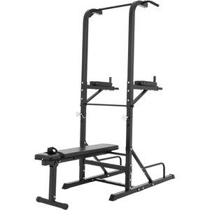 Musculation  GORILLA Gorilla Sports - Station d'entrainement multifonctions barre de traction dips banc musculation