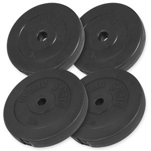 Musculation  GORILLA Gorilla Sports - Lot des poids en plastique de 30kg (2x5kg et 2x10kg) de diamètre 31mm