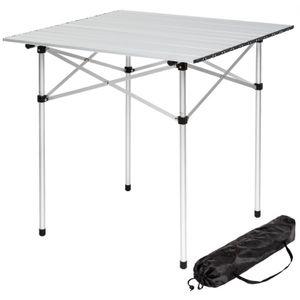 Camping homme AUTRE Table de camping jardin pique-nique aluminium pliante 70x70 cm Helloshop26 2008033