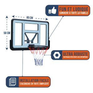 Basketball  BUMBER Panneau de Basket Mural Portable Bumber -  Los Angeles 80 x 58 cm