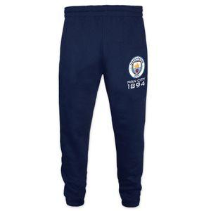 Football garçon GENERIQUE Manchester City FC officiel - Pantalon de jogging avec coupe ajustée - thème football/motif blason/polaire - garçon