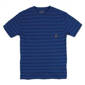 Urbain homme LIGHTNING BOLT L.BOLT Jacquard Stripe Tee Ensign Blue