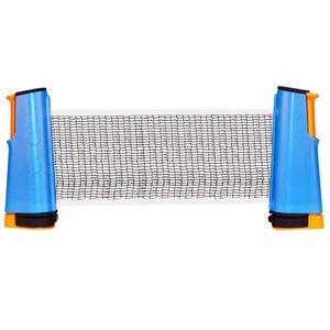 GENERIQUE Filets et poteaux de ping pong Stylé Filet Get & Go pour tennis de table enroulable bleu cobalt/orange/noir