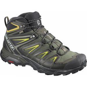 Mode- Lifestyle homme SALOMON Chaussures de marche Salomon X Ultra 3 Mid GTX gris noir vert