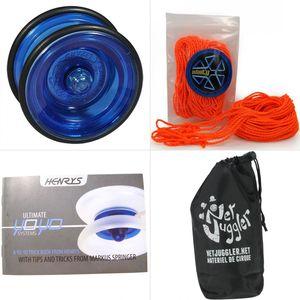 Cirque  HENRYS Yoyo Henrys Lizard Bleu + 10 Ficelles Orange + Livret + Sac