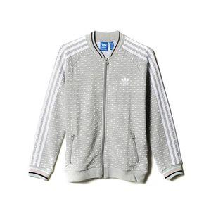 Mode- Lifestyle femme ADIDAS Sweat zippé Gris Fille Adidas