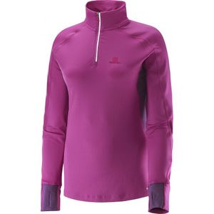 running femme SALOMON Salomon Maillot Trail Runner Warm LS Zip Lady