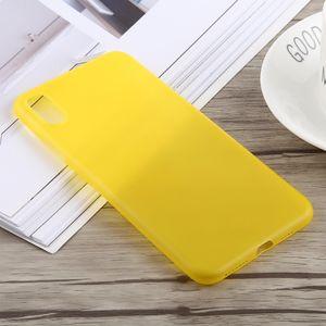 auto-hightech Coque housse pour iphone XS 0.3 mm Ultra-mince Dépoli PP pour l'iPhone XS Max (Jaune)