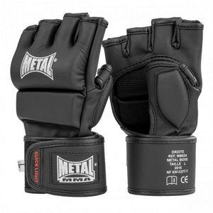 Sport de combat  METAL BOXE Mitaines Combat Libre Black Light METAL BOXE