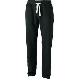 Jeux divers homme JAMES & NICHOLSON Pantalon jogging - homme - JN945 - noir - molletonné vintage coupe droite