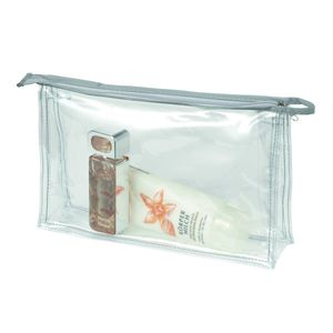 Bagagerie  HALFAR Lot de 3 trousses de toilettes zippées transparentes - 1800177 - maquillage - avion
