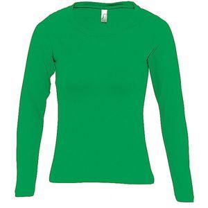 Mode- Lifestyle femme SOL S T-shirt manches longues FEMME - 11425 - vert prairie