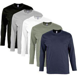 Mode- Lifestyle homme SOL S lot 5 T-shirts manches longues HOMME - noir gris blanc kaki navy