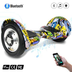 Glisse urbaine  COOL&FUN COOL&FUN Hoverboard 10 pouces avec Bluetooth, Gyropode  Overboard Smart Scooter, Hip