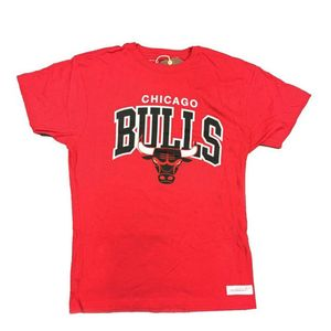 Mode- Lifestyle homme MITCHELL & NESS T-shirt rouge homme Chicago Bulls Mitchell & Ness