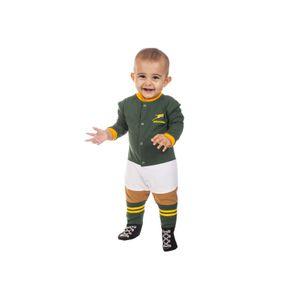 ACCESSOIRE RUGBY    Pyjama rugby Afrique du Sud - Footysuit bébé - Springboks