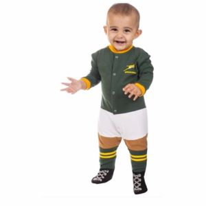 MAILLOT Rugby  ADNRUGBY GRENOUILLERE SPRINGBOKS - taille : 6-12 Mois