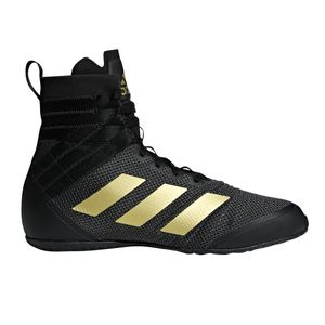 Boxe homme ADIDAS adidas Speedex 18 Mens Adult Boxing Trainer Shoe Boot Black/Gold