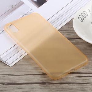 auto-hightech Coque housse pour iphone XS 0.3 mm Ultra-mince Dépoli PP pour l'iPhone XS Max (Or)