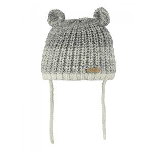 Ski Bébé BART'S BARTS-Bonnet maille chiné gris perle 2 pompons Bébé Fille du 1 au 3 ans Barts
